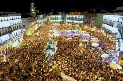 Podemos was born out of the 15-M movement, the equivalent of Occupy in the Spanish state