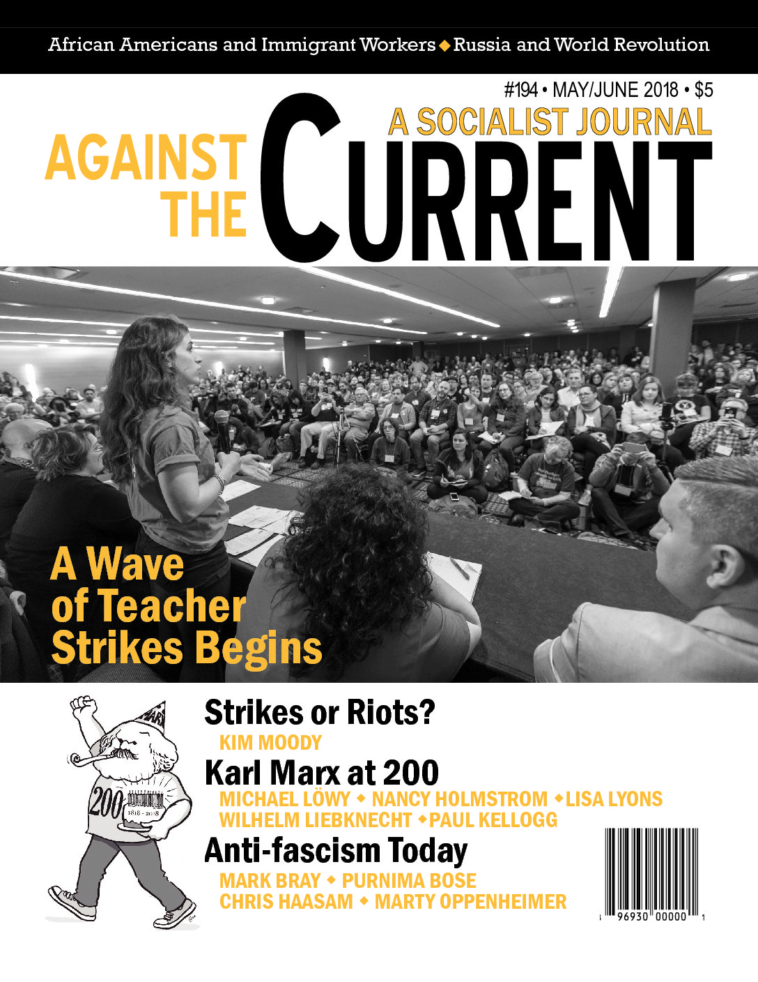 The May-June 2018 AGAINST THE CURRENT (#194) features: