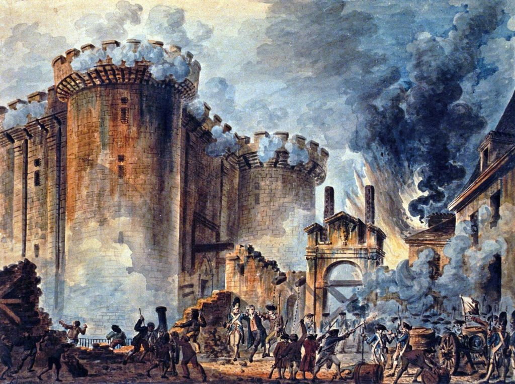"""The Storming of the Bastille,"" by Jean-Pierre Houël, at the National Library of France"