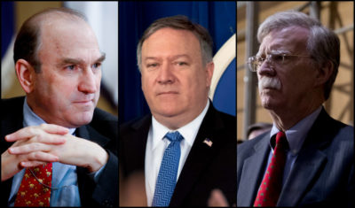 The puppeteers: Elliott Abrams, Mike Pompeo and John Bolton