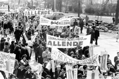 Supporters of the Popular Unity government of Salvador Allende, 1970-73