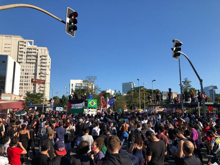 Antiracist rally in São Paulo, Brazil, June 7, 2020.