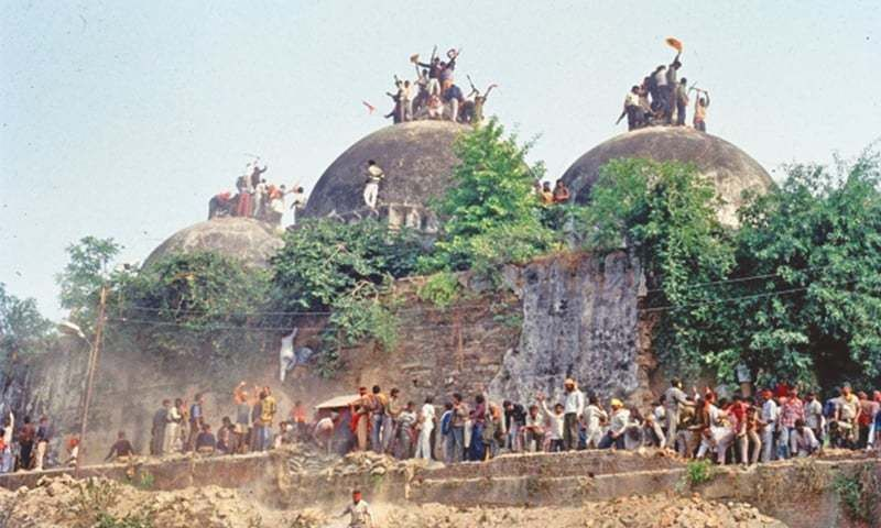 Destruction of the Babri Mosque. Ayodhya, India, December 6, 1992.