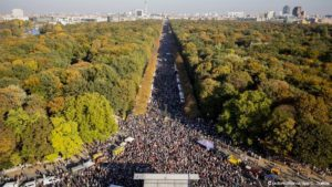 Just two kilometers of the October 13 march against racism and for immigrant rights