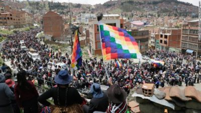 Funeral procession protesting the coup and police killings, El Alto, Bolivia