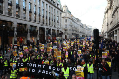 Anti-Brexit, anti-fascist rally, London, December 9, 2018