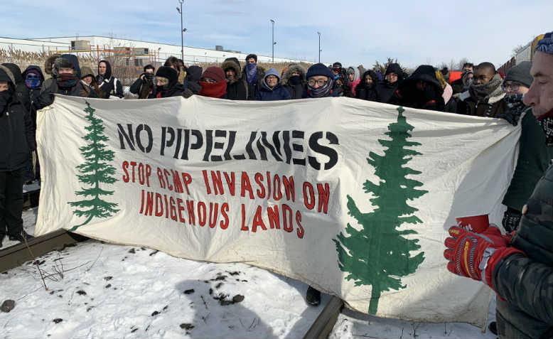Rail blockade in the Canadian state