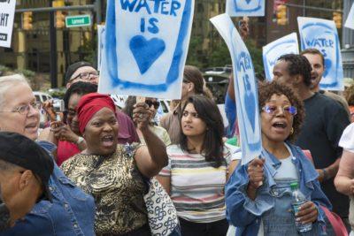 Demonstration against Detroit water shutoffs, 2014