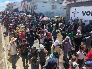 Central American migrant caravan reaches Oaxaca. Mexico