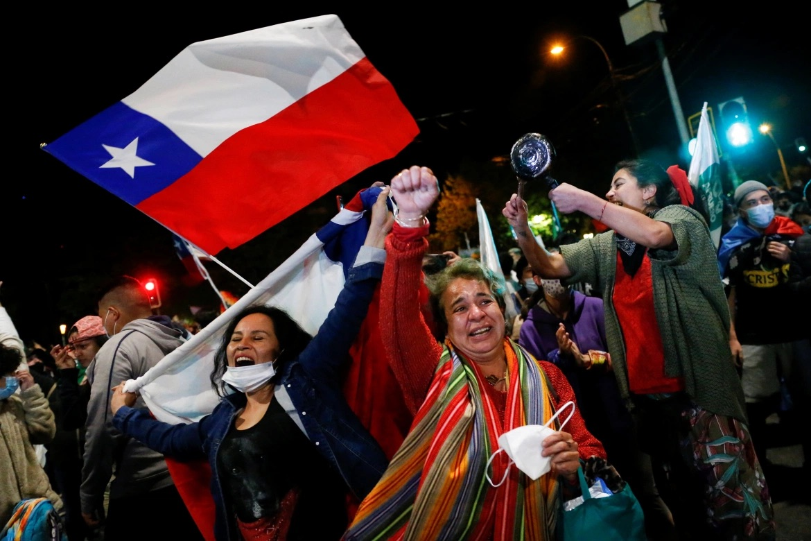 Chileans celebrate the overwhelming victory of the October 25 referendum to replace the Pinochet-era constitution, culminating months of demonstrations.