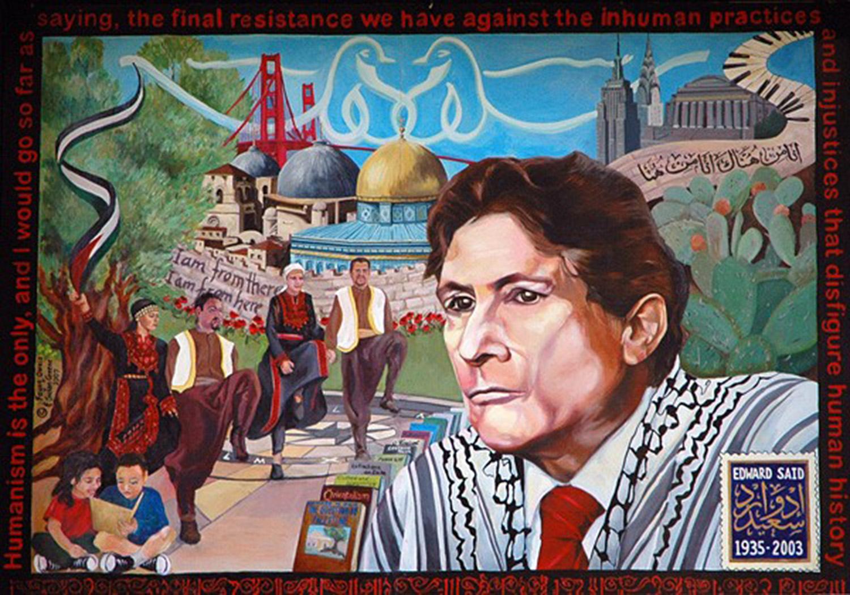 Edward Said Mural at San Francisco State University