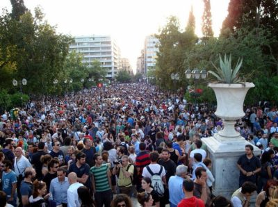 Greek protests against austerity programs, May 25, 2011