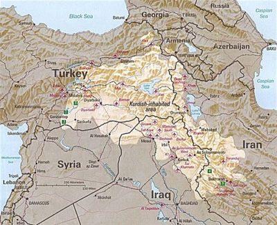 Kurdish-inhabited areas (1992)