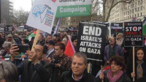 Palestine solidarity rally - London, April 2018