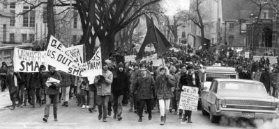 >Madison rally against the Vietnam War, 1970