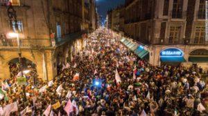 AMLO supporters celebrate in Zócalo square