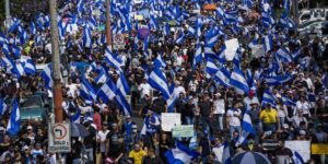 Mass protest against the government of Daniel Ortega, Managua, May 31, 2018
