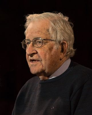 Noam Chomsky, one of the signers of the open letter