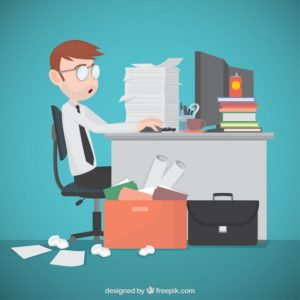 Office overworked