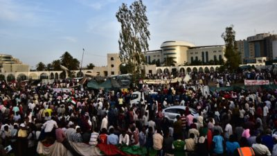 After the military coup against Omar al-Bashir protesters demand a civilian-led transition to democracy