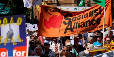 Socialist Alliance campaign at a protest in Sydney, March 3, 2019