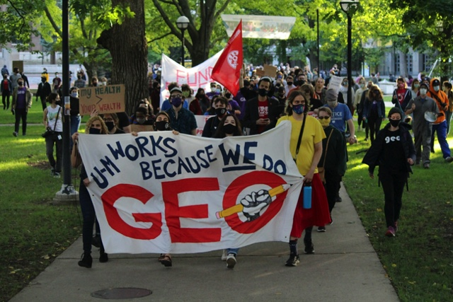 University of Michigan Graduate Employees Organization Strike for Covid-19, anti-policing demands