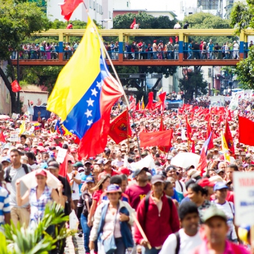 Pro-government mobilization in Caracas, Venezuela, January 23, 2019