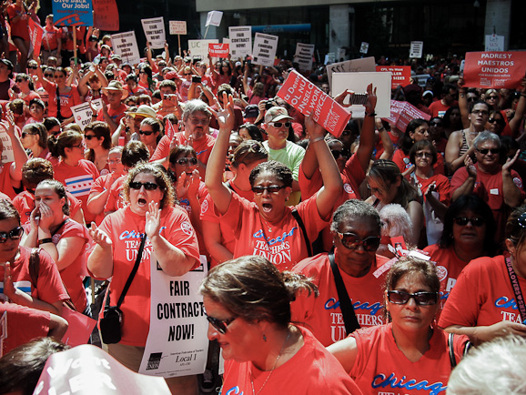 ... Teachers Union's massive Labor Day rally: a photo essay | Solidarity